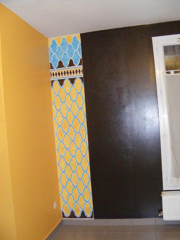 Peinture sur un mur int rieur - Peinture design sur mur ...