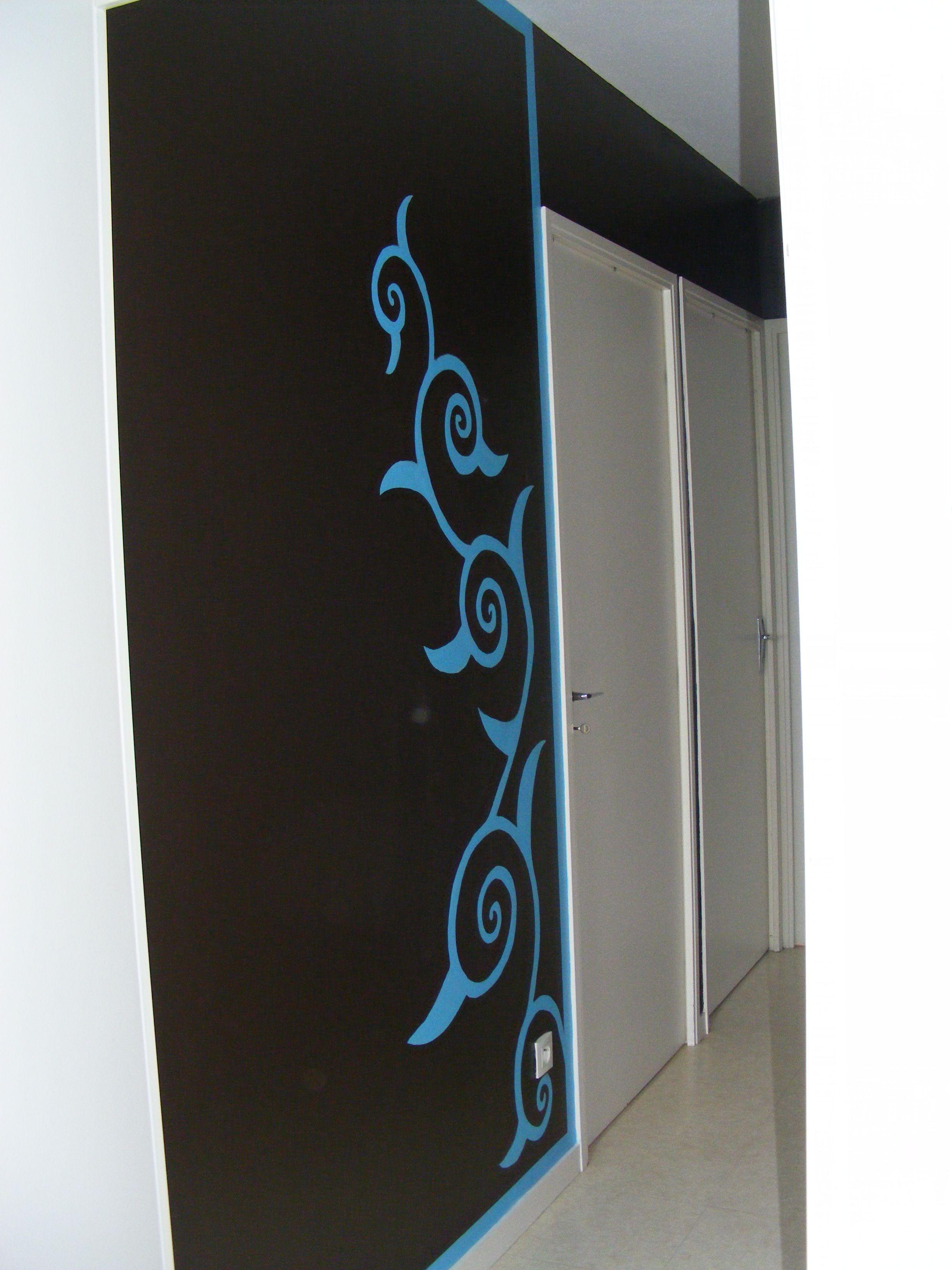 D coration murale sur un palier for Peinture deco murale