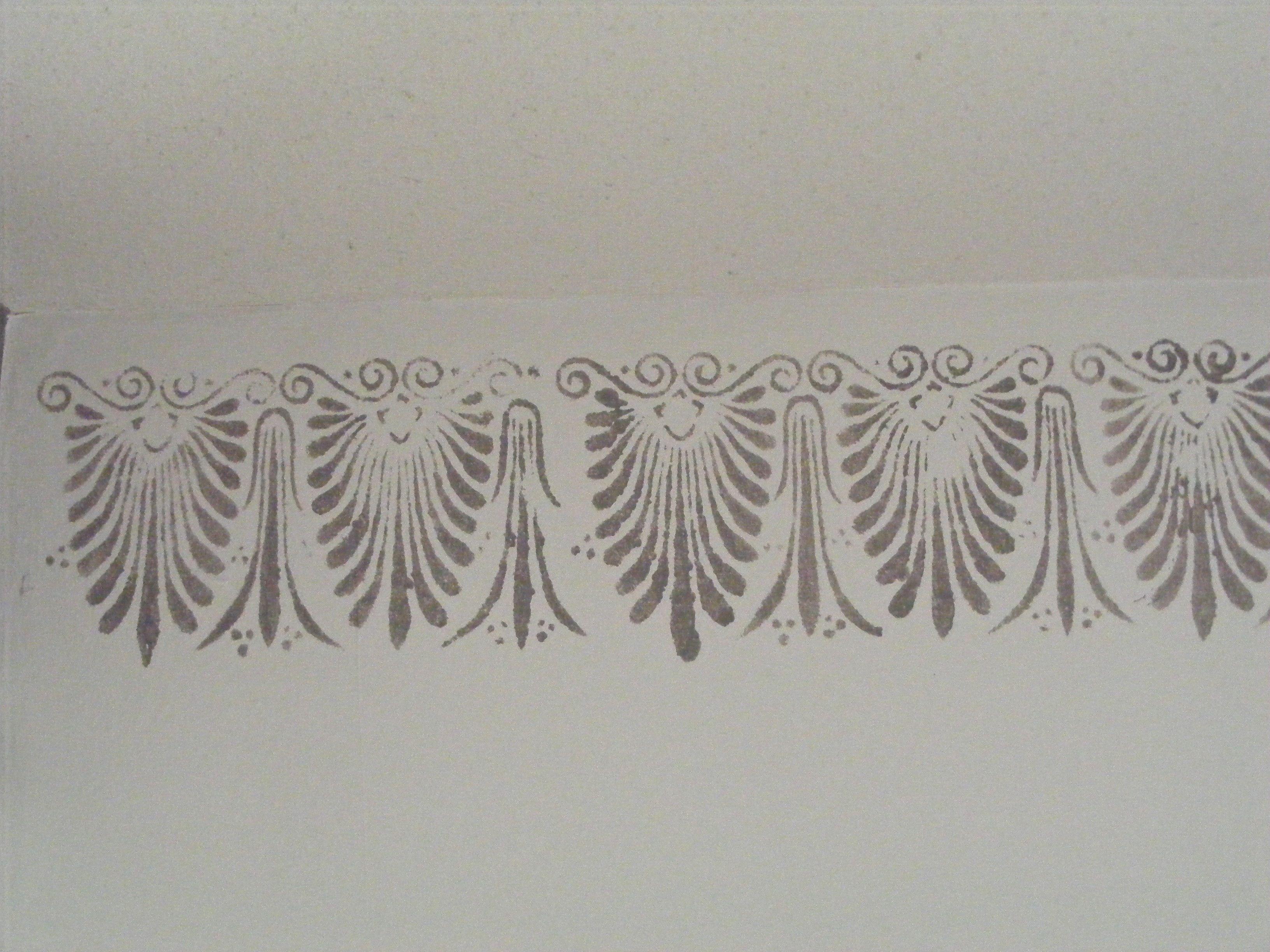 Frise murale horizontale r alis e aux pochoirs for Pochoir a peindre